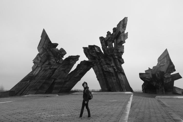 Kaunas Monument B&W